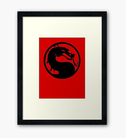 Mortal Dragon Framed Print