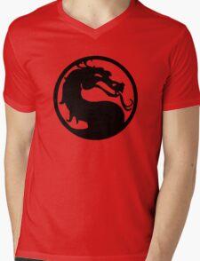 Mortal Dragon Mens V-Neck T-Shirt
