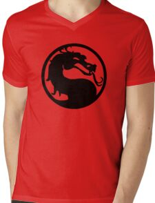 Mortal Dragon Mens V-Neck T-Shirt