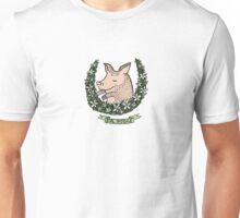 'Sir Piggae' Pig Wreath Unisex T-Shirt