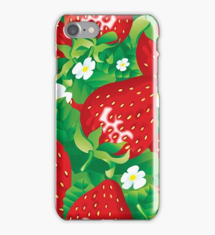 Background of strawberry iPhone Case/Skin