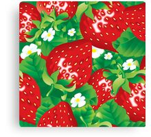 Background of strawberry Canvas Print