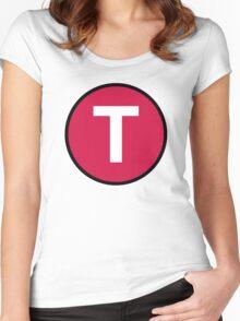 T Third Street (MUNI) Women's Fitted Scoop T-Shirt