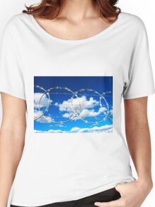Clouds through Razor Wire Women's Relaxed Fit T-Shirt