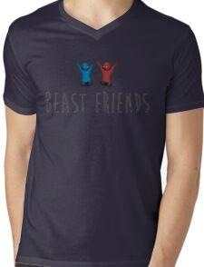 Beast Friends Mens V-Neck T-Shirt