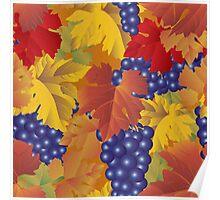 Grapes seamless pattern Poster