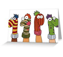 Sock Puppets Greeting Card