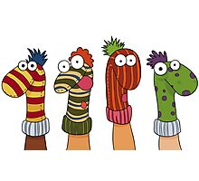 Sock Puppets Photographic Print