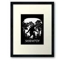 Sasquatch Silhouette  Framed Print