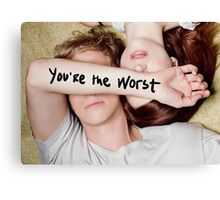 You're The Worst 01 Canvas Print