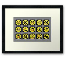 Website and internet icons Framed Print