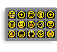 Website and internet icons Canvas Print