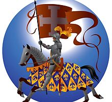 Knight with a standard by maystra