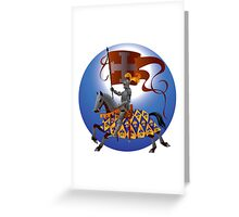 Knight with a standard Greeting Card