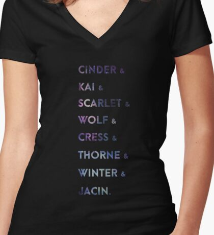 The Lunar Chronicles Women's Fitted V-Neck T-Shirt