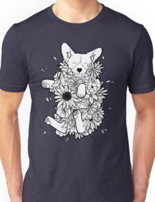 Floral Corgi Unisex T-Shirt
