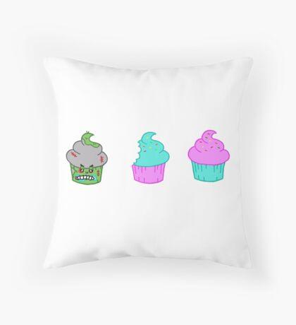 Zombie Cupcake Throw Pillow