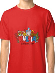 Welcome to Russia. Russian symbols Classic T-Shirt