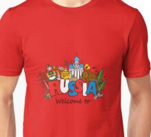 Welcome to Russia. Russian symbols Unisex T-Shirt