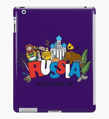 Welcome to Russia. Russian symbols iPad Case/Skin