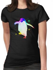 Psychedelic Penguin Womens Fitted T-Shirt