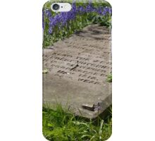 Flowers by the grave iPhone Case/Skin