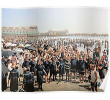 Hands up to the camera! on the beach at Atlantic CIty, NJ, 1905 Poster