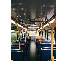 Empty Bus Photographic Print
