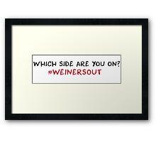 South Park #weinersout Framed Print