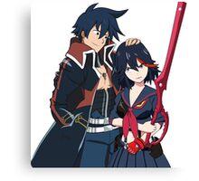 Ryuko and Simon: Gurren Lagann x Kill la Kill Canvas Print