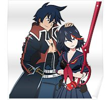 Ryuko and Simon: Gurren Lagann x Kill la Kill Poster