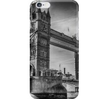 Tower Bridge Black and White  iPhone Case/Skin