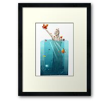 Submerged Statue Framed Print