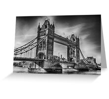 Tower Bridge Black and White  Greeting Card