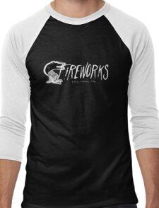 Fireworks transparent logo (oh,common life) Men's Baseball ¾ T-Shirt