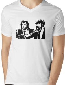 Pulp fiction Vincent Vega Jules Winnfield Mens V-Neck T-Shirt