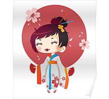 Japanese Cute Geisha Poster