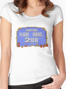 SUPER KODI BROS OFFICIAL MARIO 2 TWO HUNDRED SALE EDITION Women's Fitted Scoop T-Shirt