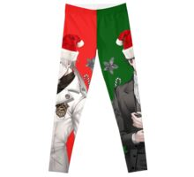 Christmas with Zen and Jumin (Green and Red Version)~ Leggings