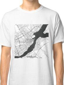 Quebec City Map Gray Classic T-Shirt