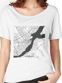Quebec City Map Gray Women's Relaxed Fit T-Shirt