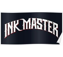 Ink Master logo - white- Spike - tv show - tattoo Poster