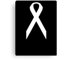 Lung Cancer Awareness ribbon Canvas Print