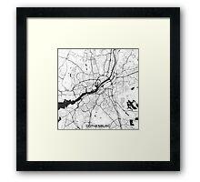 Gothenburg Map Gray Framed Print