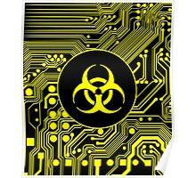 Yellow Biohazard (Cybergoth) Poster