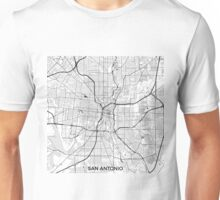 San Antonio Map Gray Unisex T-Shirt