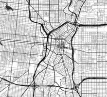 San Antonio Map Gray Sticker