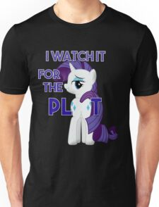 "My Little Pony Rarity Plot ""I Watch it for the Plot""  FIM Unisex T-Shirt"