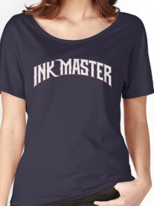 Ink Master logo - white- Spike - tv show - tattoo Women's Relaxed Fit T-Shirt