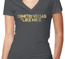 DV&LM Gold Women's Fitted V-Neck T-Shirt
